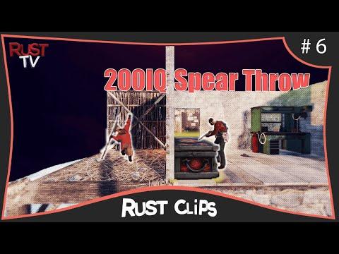 200 IQ Calculated SPEAR Throw - [Rust Clips #6] thumbnail