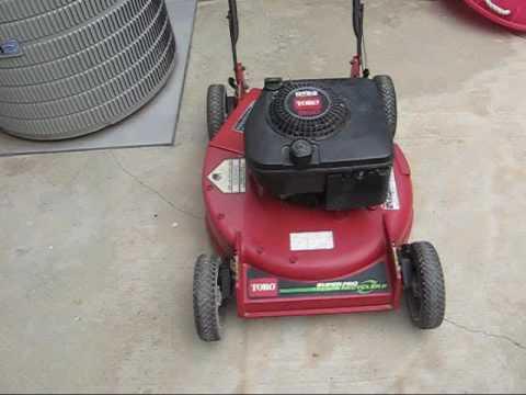 Toro Super Pro Recycler Ii Lawnmower Youtube