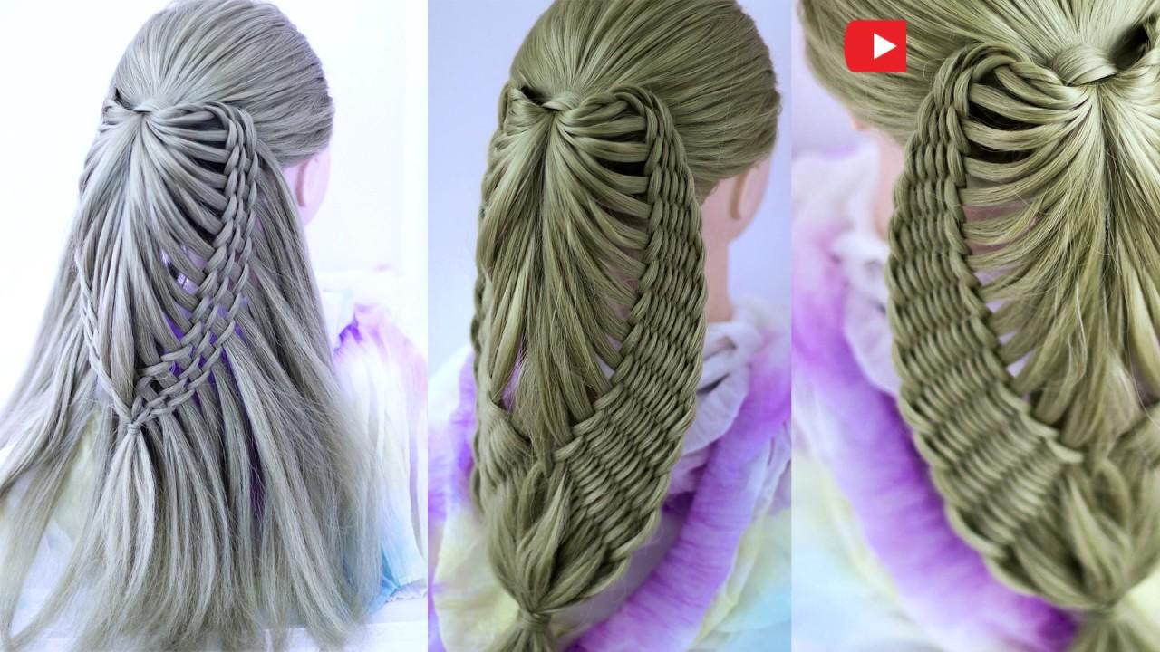 Причёска для длинных волос из косы Коса Бабочка Peinado Maripoza