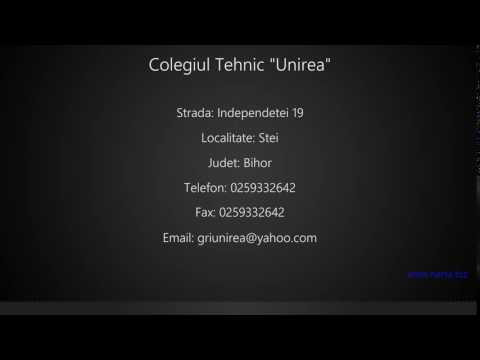 Colegiul Tehnic Unirea Stei Youtube