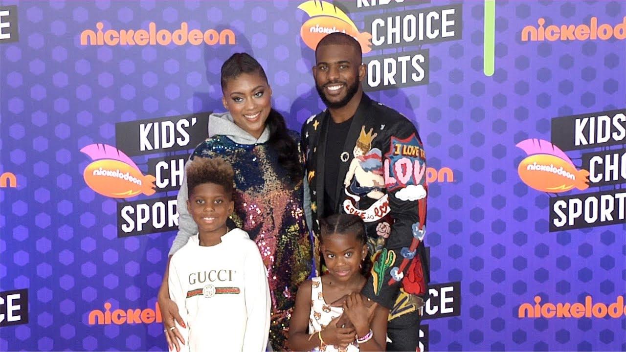 Chris Paul and Jada Crawley 2018 Kids' Choice Sports ...
