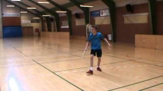 """Træningslektion Badmintonakademiet -  Vi træner """"Pres mellemspil"""""""