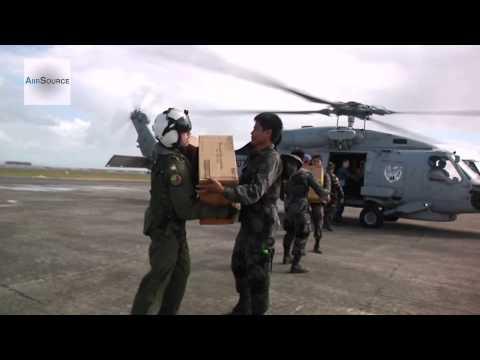 Japanese Self-Defense Force and U.S. Navy Unload Aid - Operation Damayan, Typhoon Haiyan Recovery
