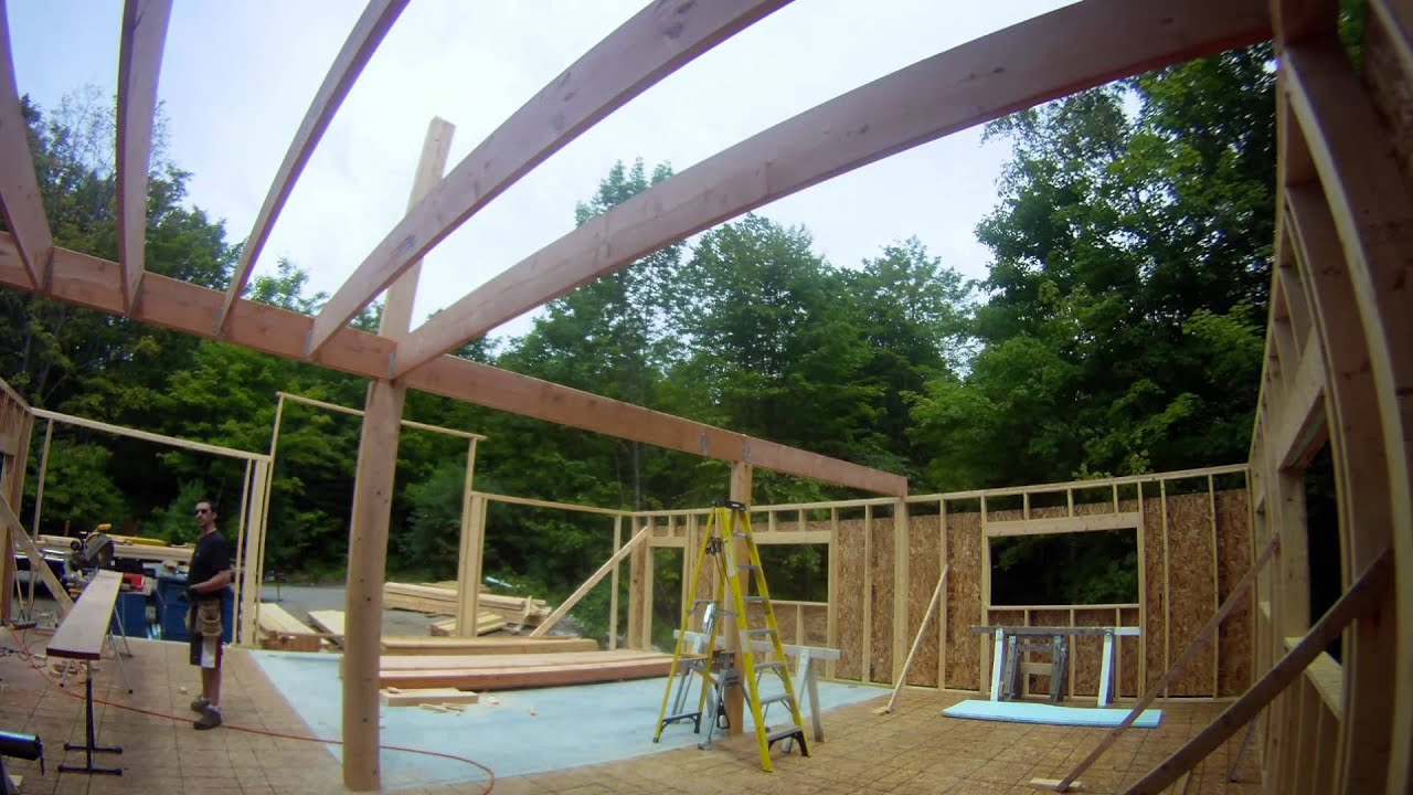 Framing Floor Joists Post And Beam 29 My Garage Build