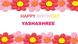 Yashashree   Birthday Postcards & Postales - Happy Birthday