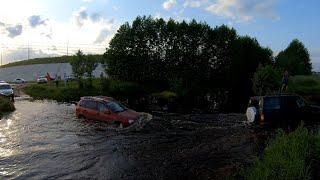 Зачем люди топят свои автомобили... Преодоление брода часть 3