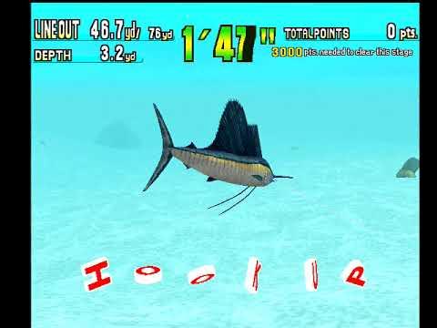 Sega Marine Fishing Dreamcast Gameplay