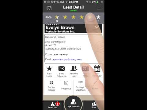 CDS XPress Connect Lead Retrieval App Tutorial