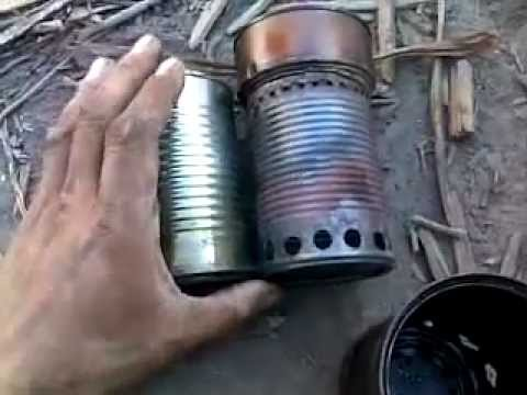 Wood gas camp stove how to youtube for How to make a small stove