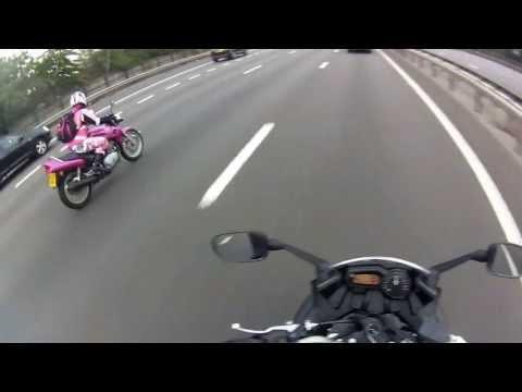 Girl On Epic Pink Motorcycle