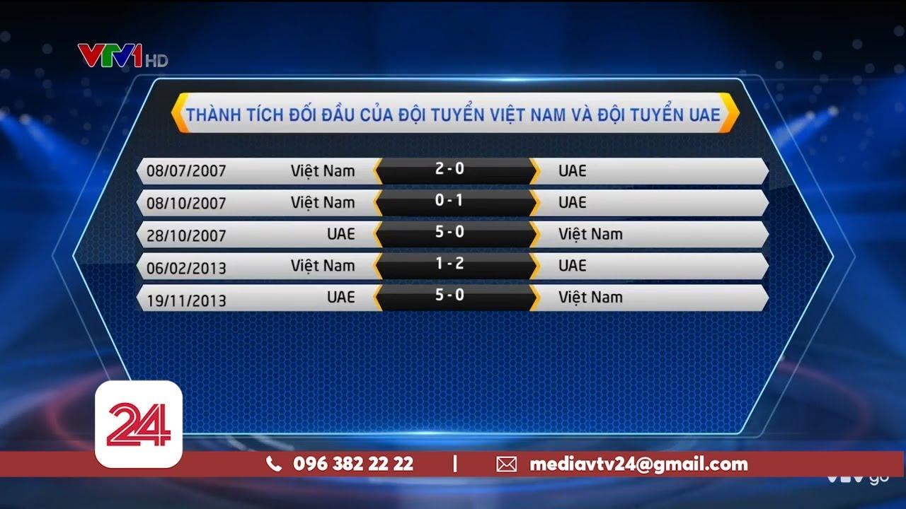 Thống kê trước trận Việt Nam - UAE   VTV24