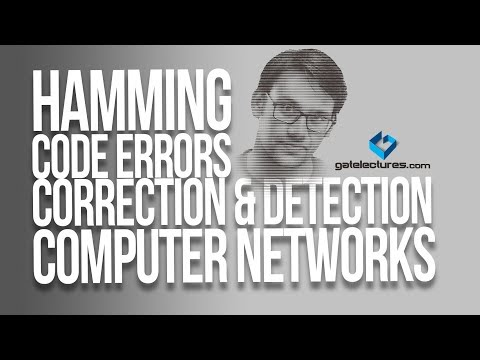 Hamming Code Errors Correction and Detection - Computer Networks Video Lectures check sum
