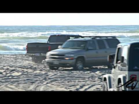 driving on the world's longest beach or sand trap for vehicles