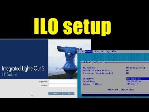 ILO configuration