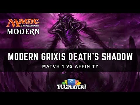 MTG Modern Grixis Death's Shadow  Match 1 VS Affinity