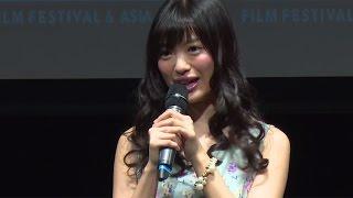 アイドルグループ「AKB48」から「NGT48」に移籍した北原里英さんが、6月12日、東京都内で行われた「『AKB ShortShorts』プロジェクト『9つの窓』」発表会に登場した。