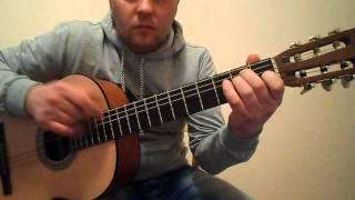 Супер испанский бой на гитаре.Фламенко.Урок