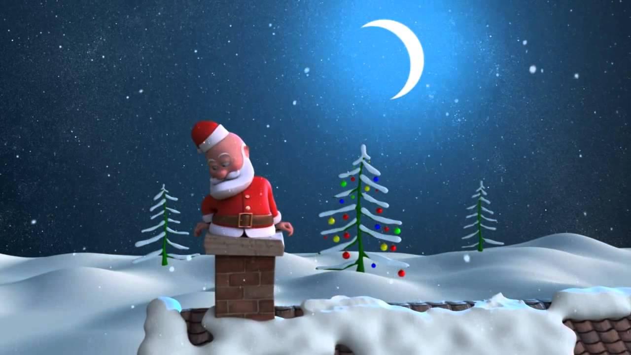 Fondos Navidad Animados: Fondos Animados Navidad Santa Claus Papá Noel HD Animated