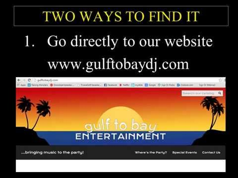 Gulf to Bay Karaoke Song Catalog