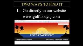 Gulf to Bay Karaoke Song Catalog