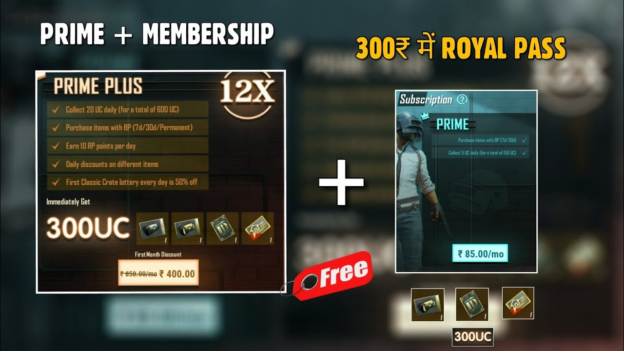 PUBG MOBILE: PRIME Membership Plus Offer in Pubg mobile, 900 uc in 400 INR | Gamexpro