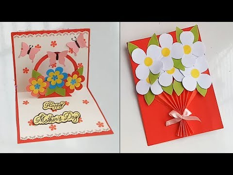 Handmade Mother's Day card /Mother's Day pop up card making idea...