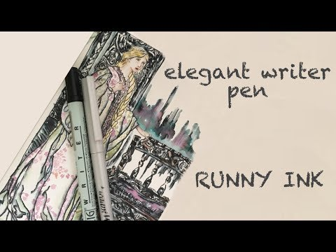 Elegant Writer Runny Ink Pen Demo, Rackham Study