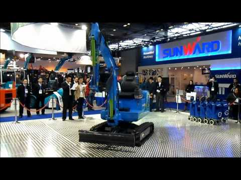 Sunward electric remote control mini excavator at Intermat 2012