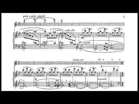 Erich Wolfgang Korngold - Marietta's Lied for Violin and Piano, Op. 12 (1920) [Score-Video]