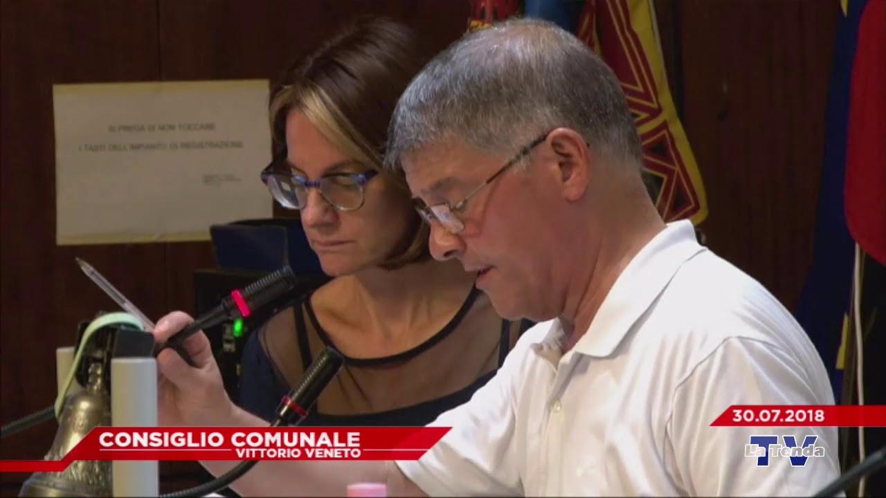 CONSIGLIO COMUNALE VITTORIO VENETO - Seduta del 30.07.2018
