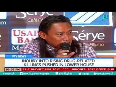 [PTVNews 9pm] Inquiry into rising drug-related killings, pushed in lower house [07|14|16]