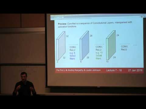 CS231n Winter 2016: Lecture 7: Convolutional Neural Networks