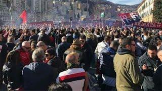 Genoa - Bologna: i tifosi genoani presenti fuori dalla gradinata nord