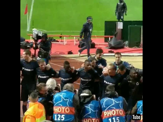 2018-2019 - Monaco-Club Brugge - Feestje Na De Overwinning