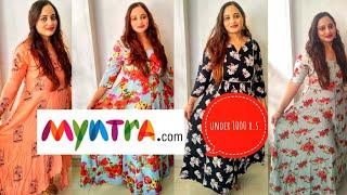 Myntra maxi dress haul 2019 under 1000 r.s.  4 dresses for 1000 r.s. affordable kinjal desai