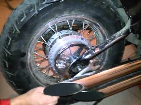 как снять заднее колесо на honda tact