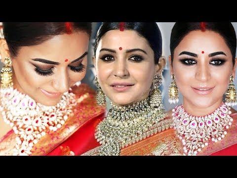 Anushka Sharma Wedding Reception Look Makeup And Hairstyle