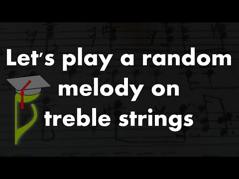 Nootka - playing random melody on treble strings