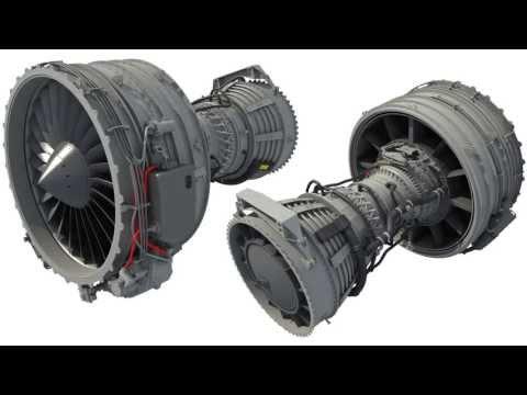 Turbofan Aircraft Engine 3D Model