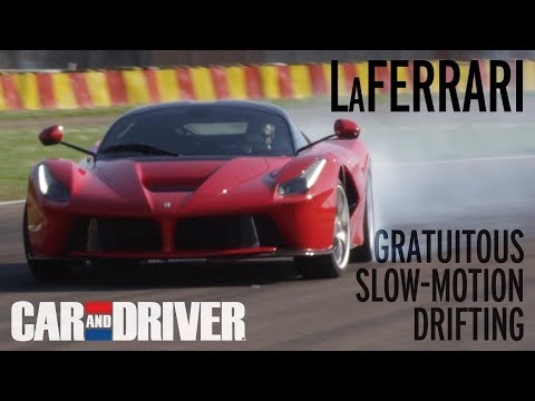 Ferrari LaFerrari - Slow-Motion Drifting