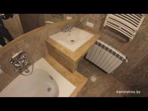 Отделка ванной комнаты. Натуральный камень.