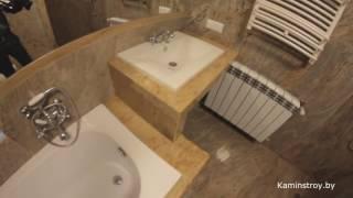 видео Дизайн ванной комнаты: плитка, панели или камень?