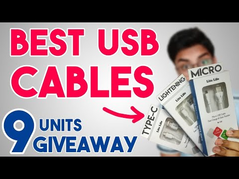 Best USB Cable For Android for Fast Charging 2019 | in India | Micro USB, Type C & Lightning