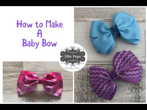 Tutorial How to make baby Velcro hair bows perfect for baby fine hair, pets & dogs too