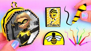 🐝DIY: Miniature Queen Bee MIRACULOUS LADYBUG School Supplies ( Backpack, Notebook) REALLY WORKS🐝