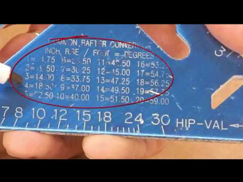 How to measure roof rafters including the pitch and bird's mouth (seat) cuts (captioned)