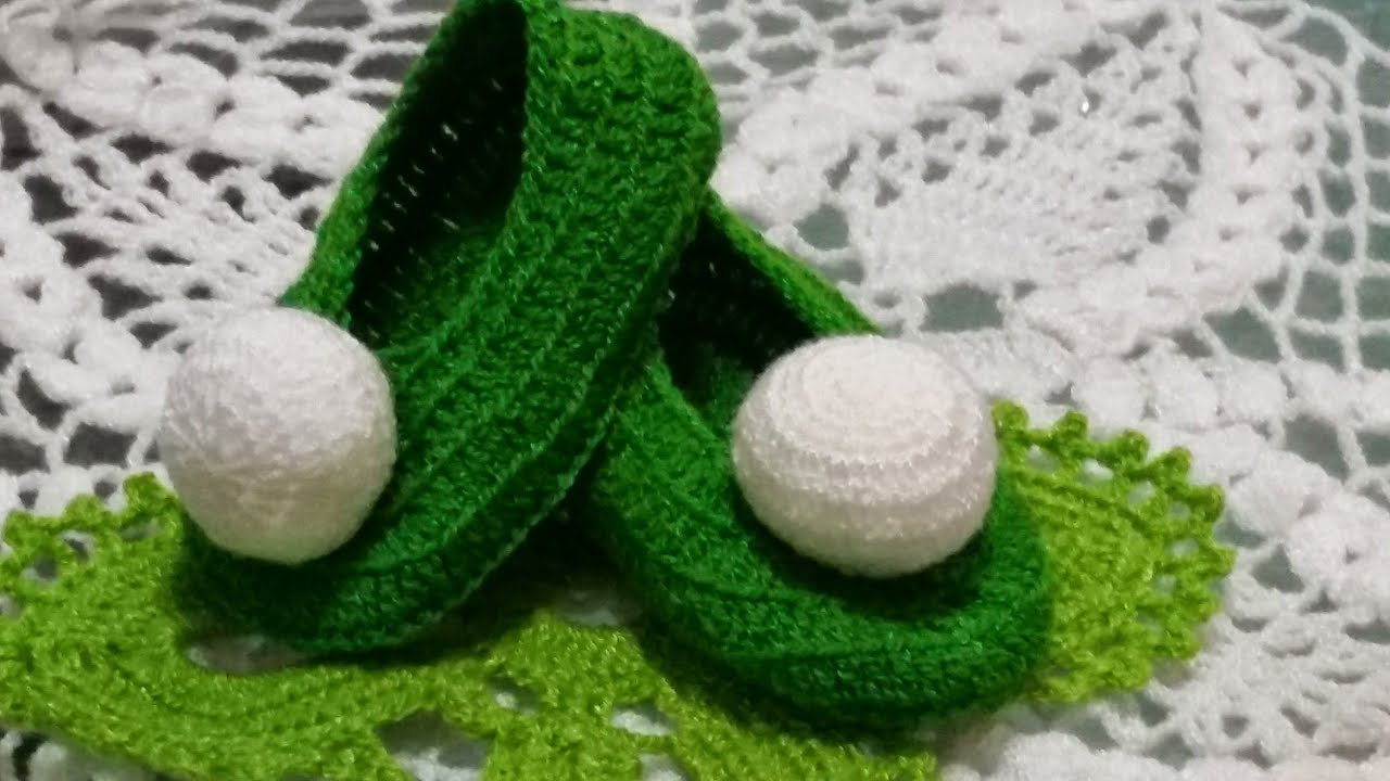 Crochet Tutorial Zapatitos : Zapatitos para ni?as??#3en crochet de campanita - YouTube