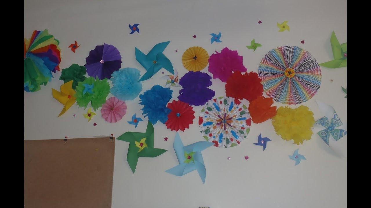 Decoracin para paredes  muros con papel  YouTube