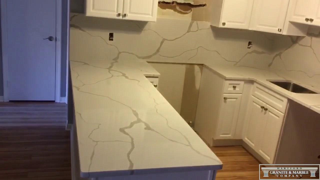 Calacatta Classique Quartz From MSI For Kitchen In Rocky Hill, CT