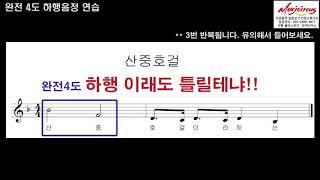 [임용_시창] 시창, 이렇게 공부하라!_완전4도 (뮤직서커스 김난아)